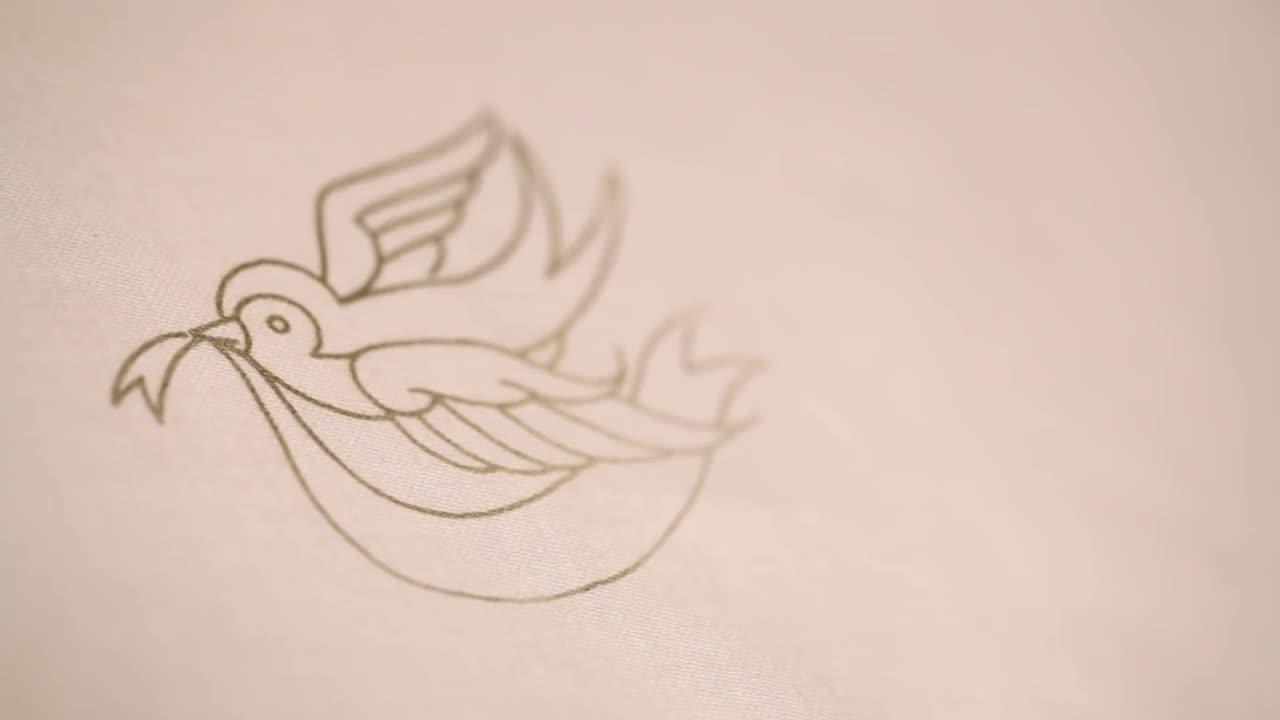 刺绣视频教程 - 三种方法转印刺绣模板/图案