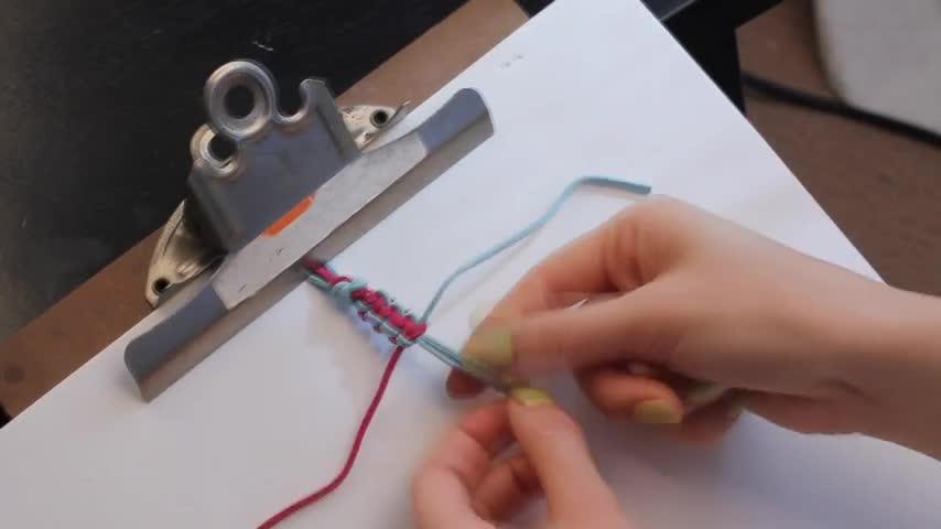 #视频# 平结编织方法 / 平结编织技巧