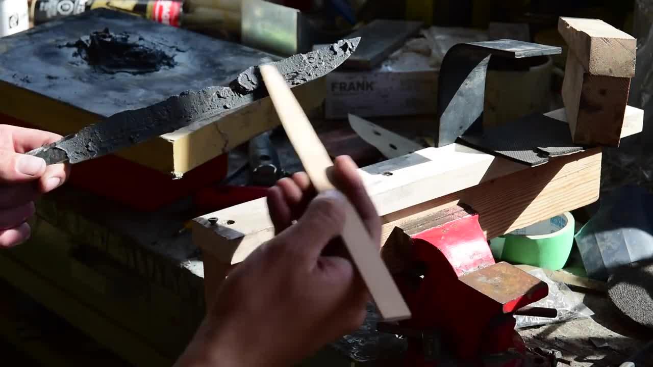 记录一把日本刀(Tanto)手工打造全过程(视频)