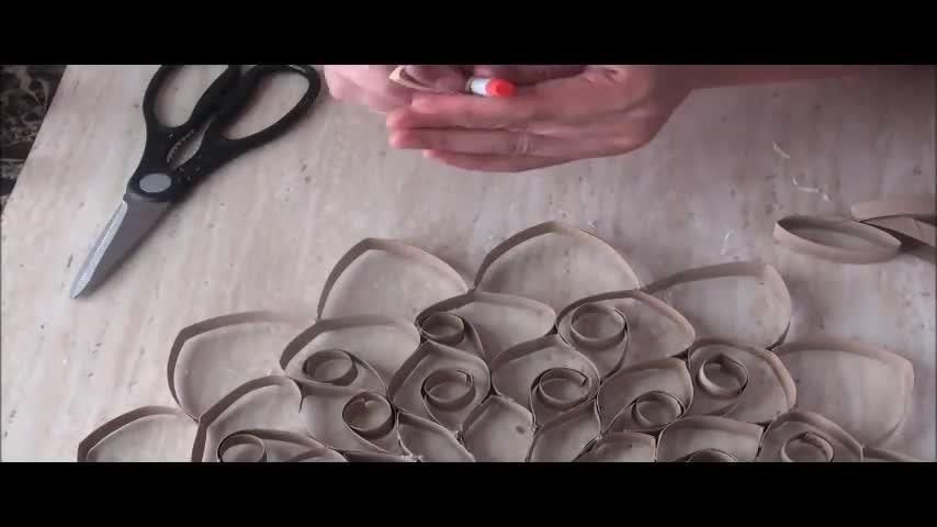 废物利用 - 卫生纸纸芯不要再丢了,留起来拼成一个漂亮的曼荼罗吧