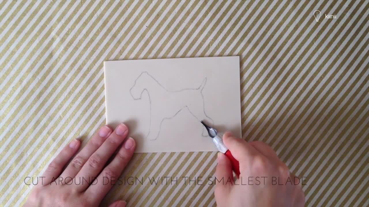 橡皮章/Lino印章雕刻基础教程