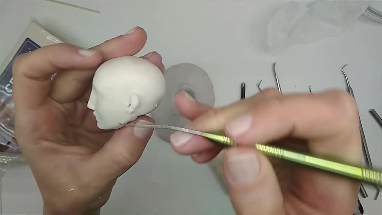 BJD娃娃 | 为娃娃制作逼真的耳朵(视频)