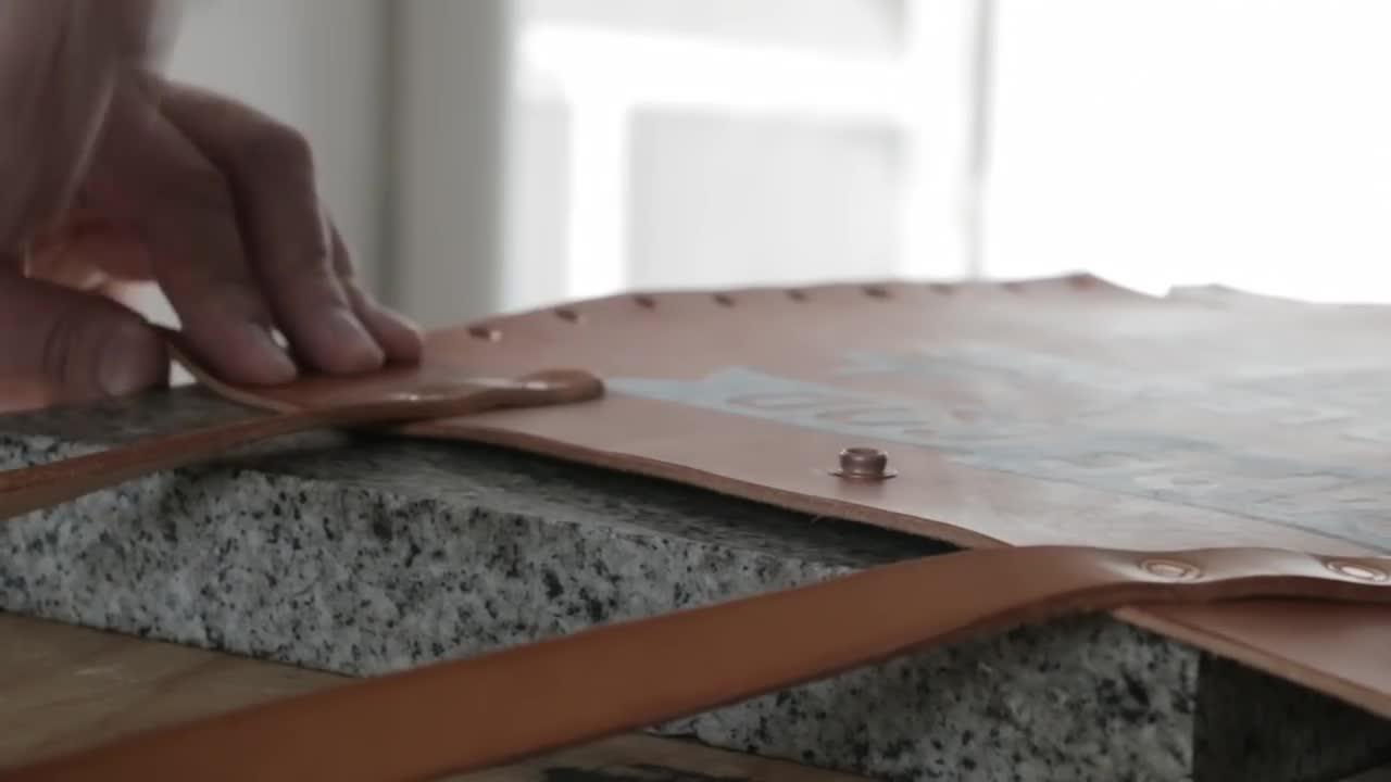 手工皮具 | 做个不用缝线的托特,超帅!