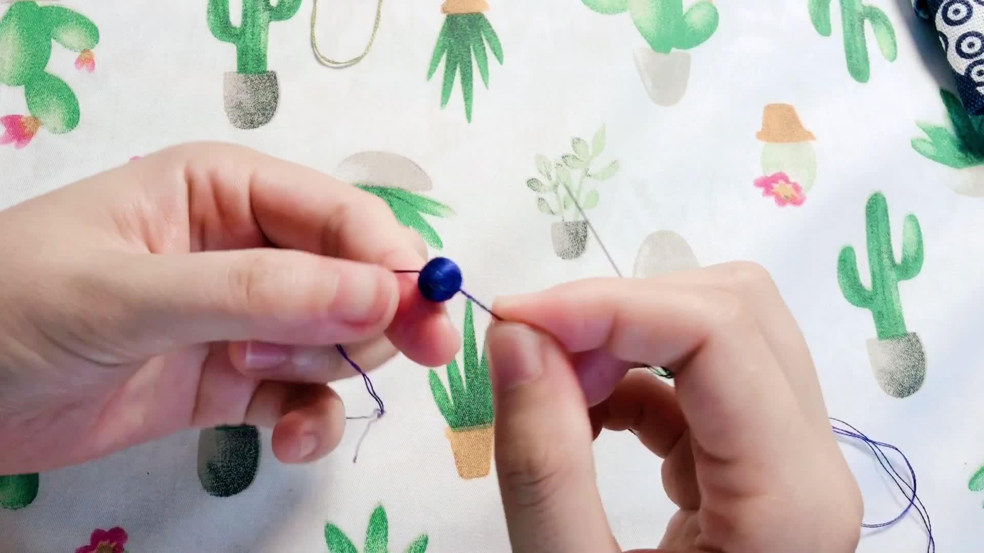 立体果实绣 - 用木珠和绣线简单缠绕就能做出来的各色果实