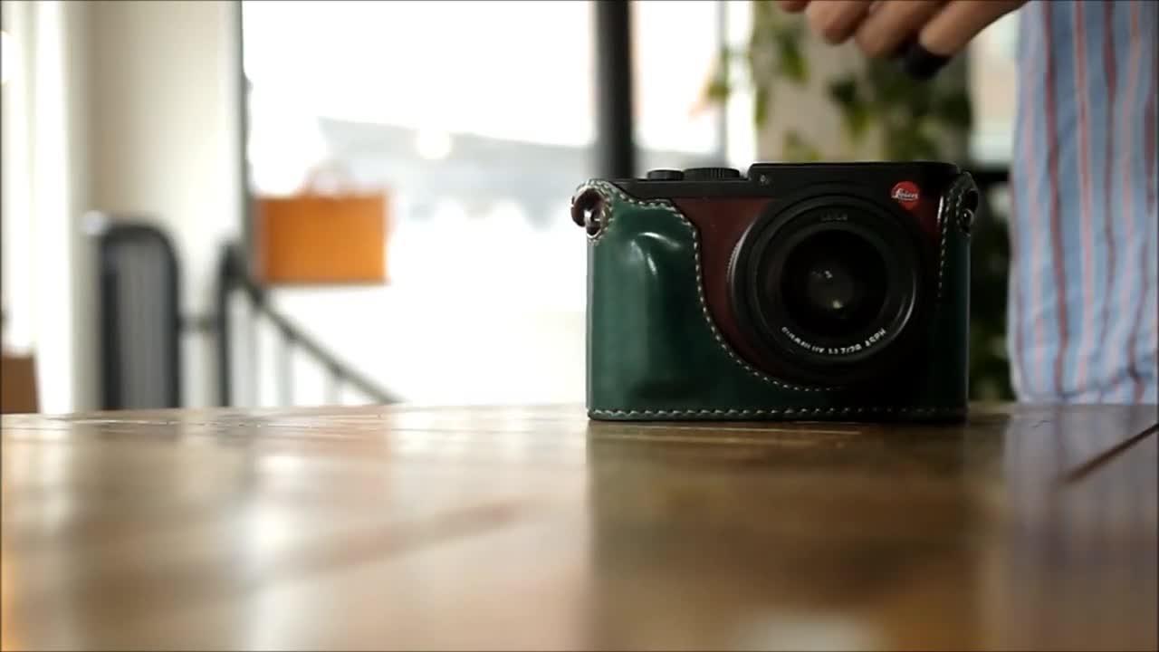 手工皮具 DIY一个leica相机套