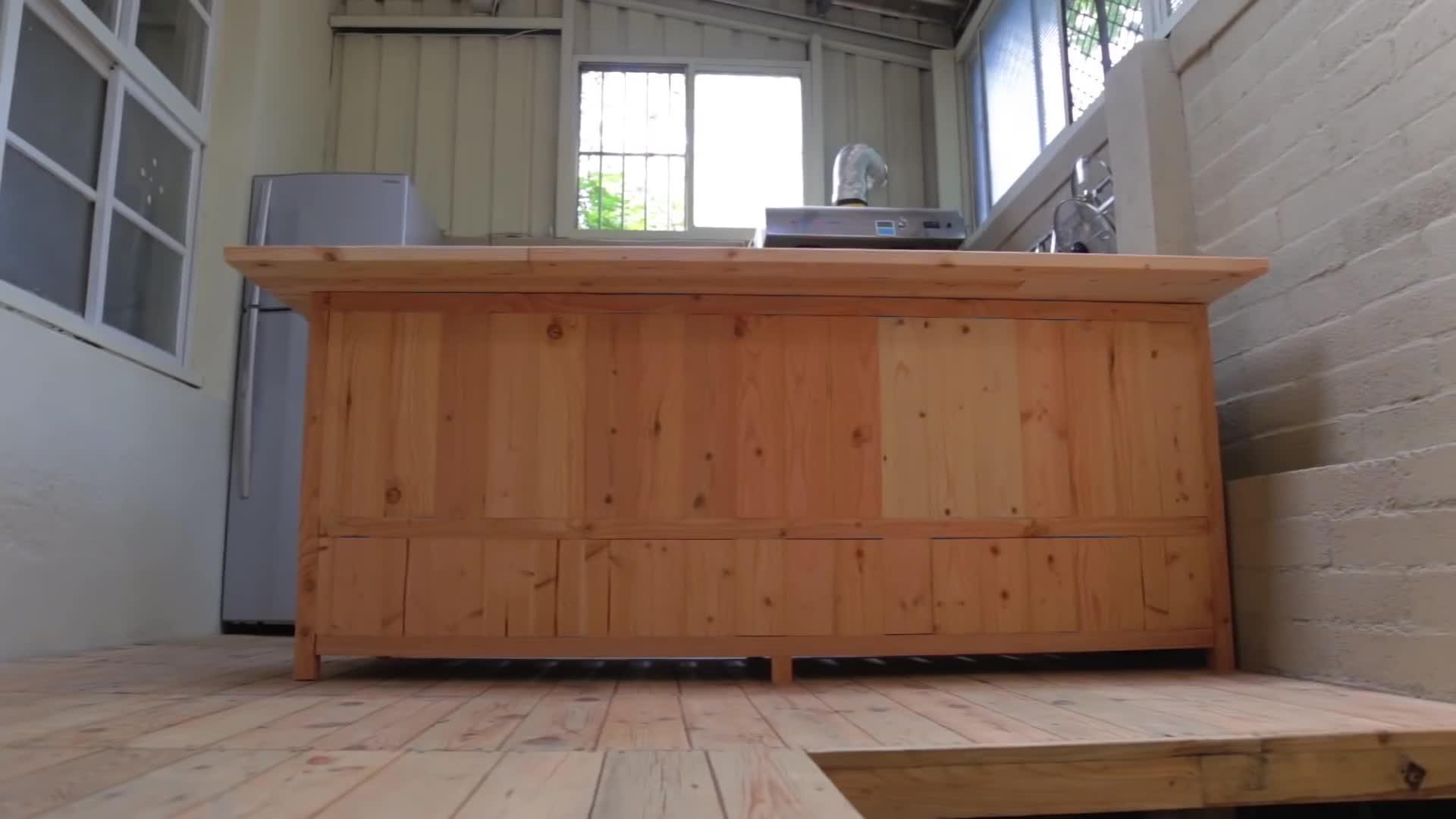 「木工视频」极简风日式厨房中岛 - 山小日子
