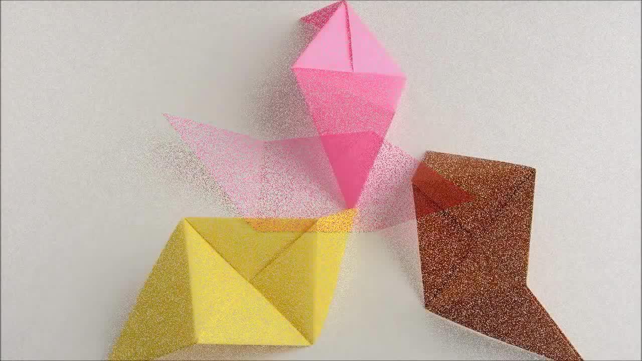 Sonobe组合折纸法:八面体纸球