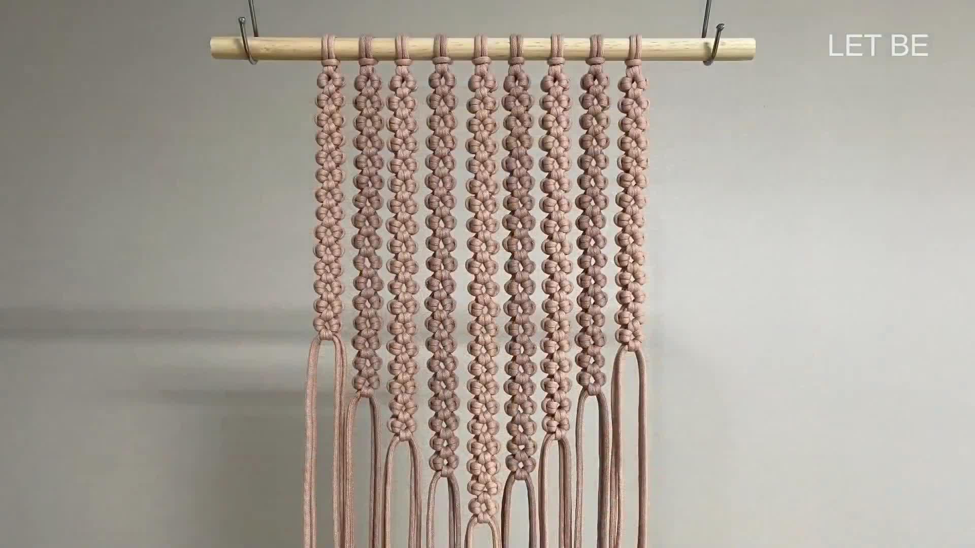DIY手工编织墙挂视频教程|DIY macrame wall hanging