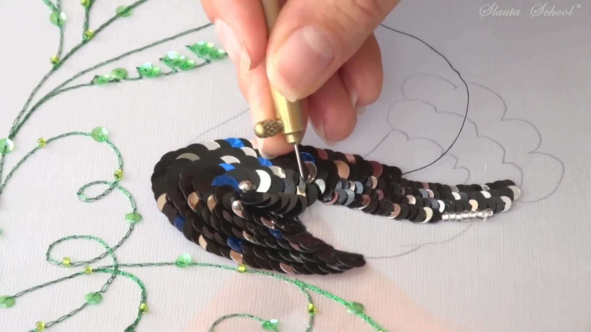 DIY Luneville法式刺绣视频教程(专业级 第八课)