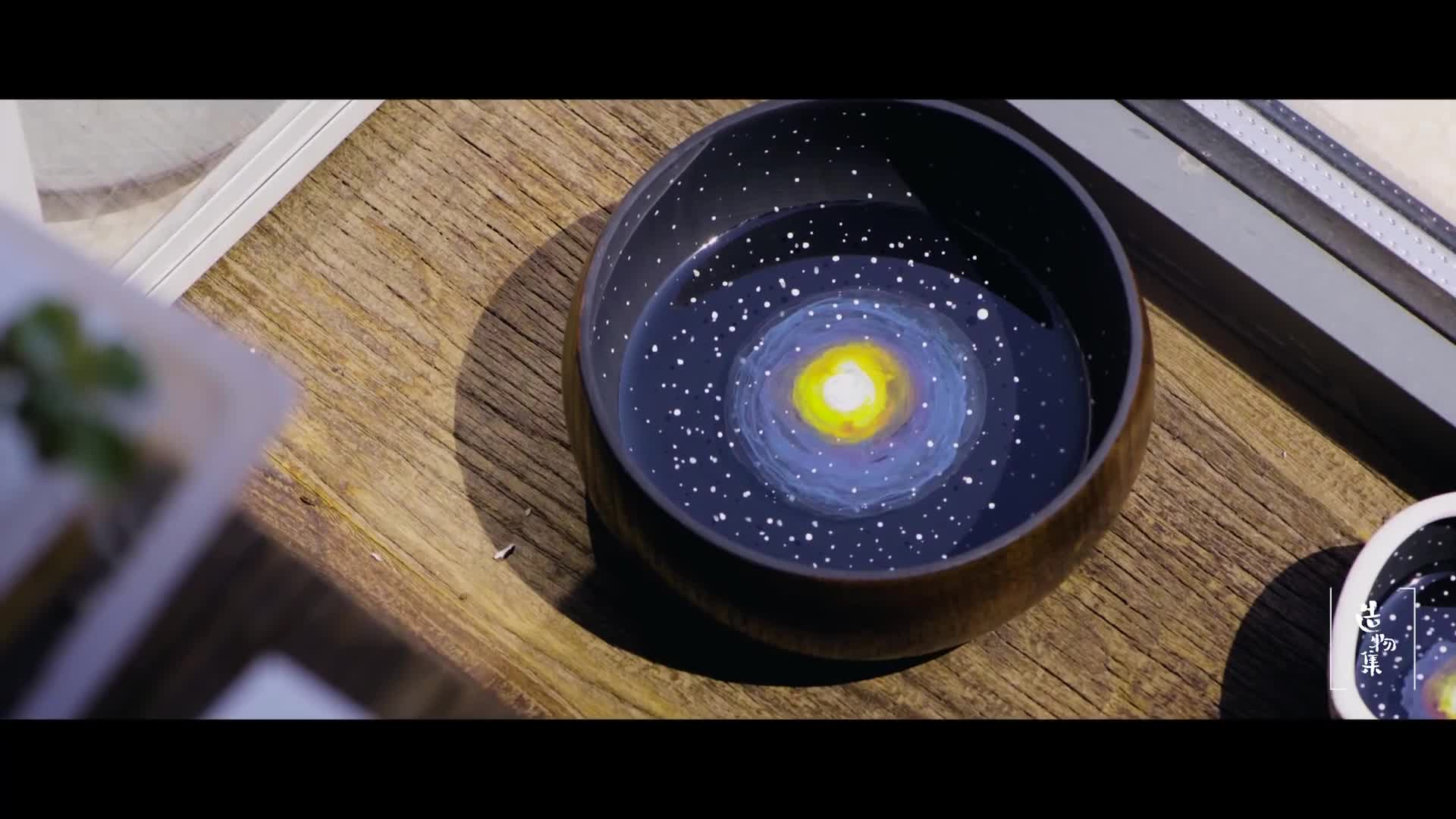 DIY创意透明树脂滴胶画:碗里的星空