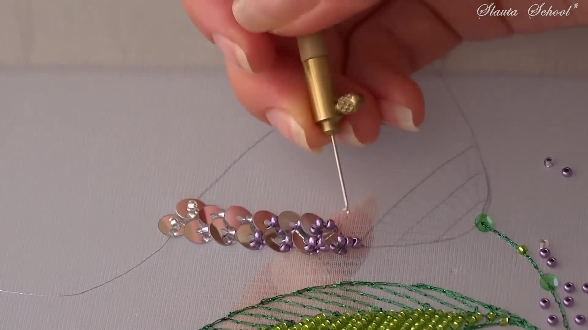 DIY Luneville法式刺绣视频教程(专业级 第五课)