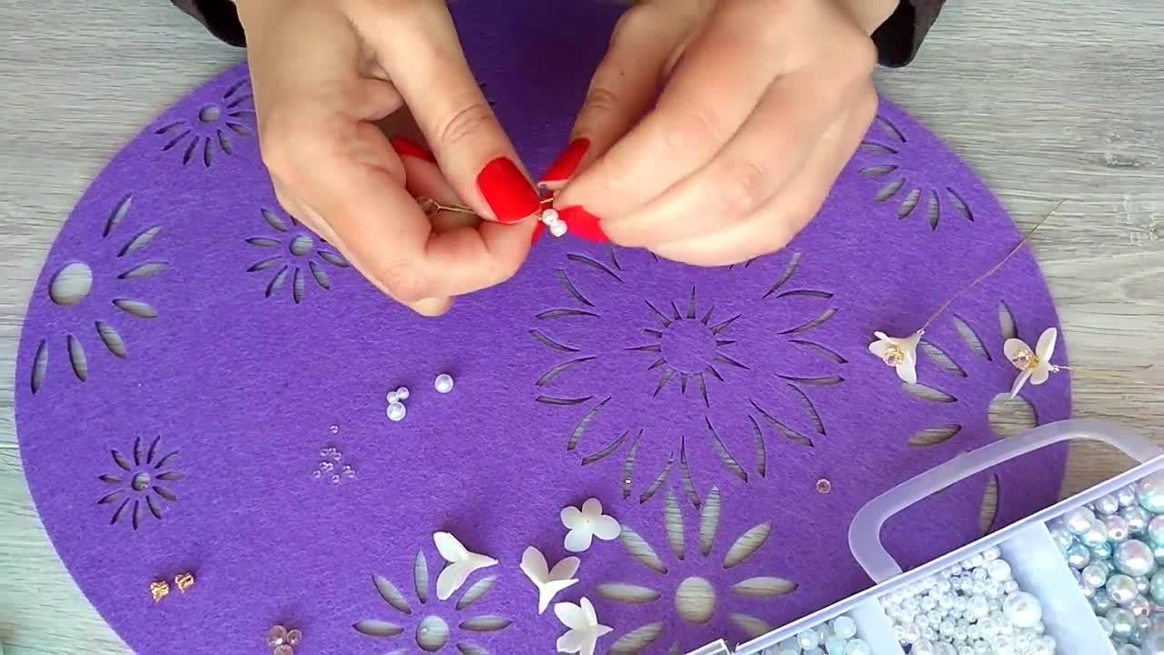 俄罗斯式珠花发卡制作过程 | Tatiana Tamire