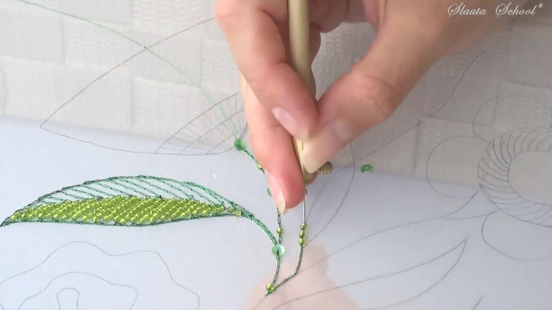 DIY Luneville法式刺绣视频教程(专业级 第一课)