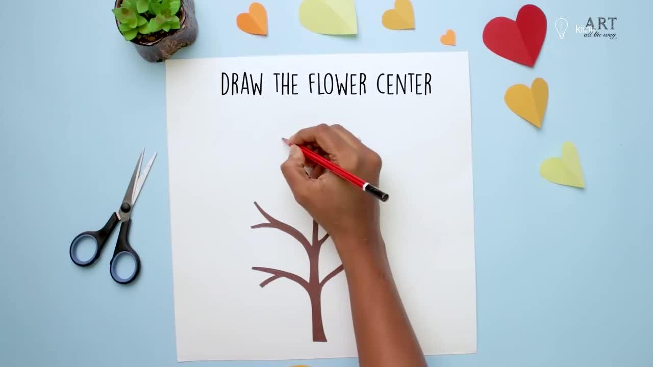 纸艺视频教程:简单的剪纸工艺,制作一副枝繁叶茂的纸树装饰画