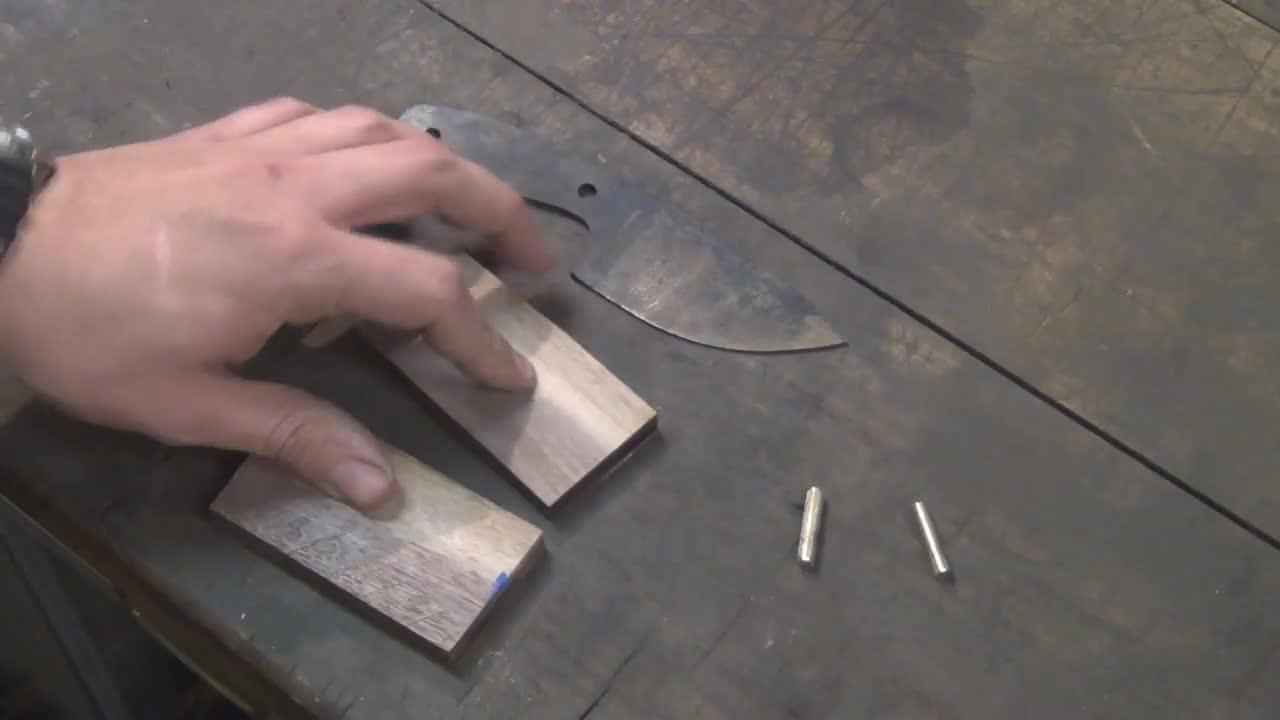 手工刀制作视频:如何使用基本工具制作一把手工刀?
