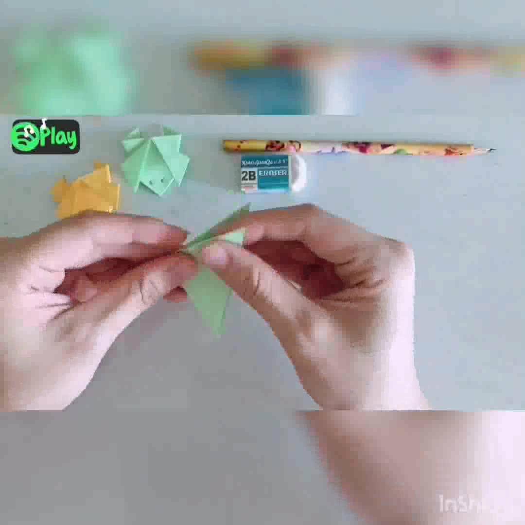 童年趣味折纸-青蛙折纸