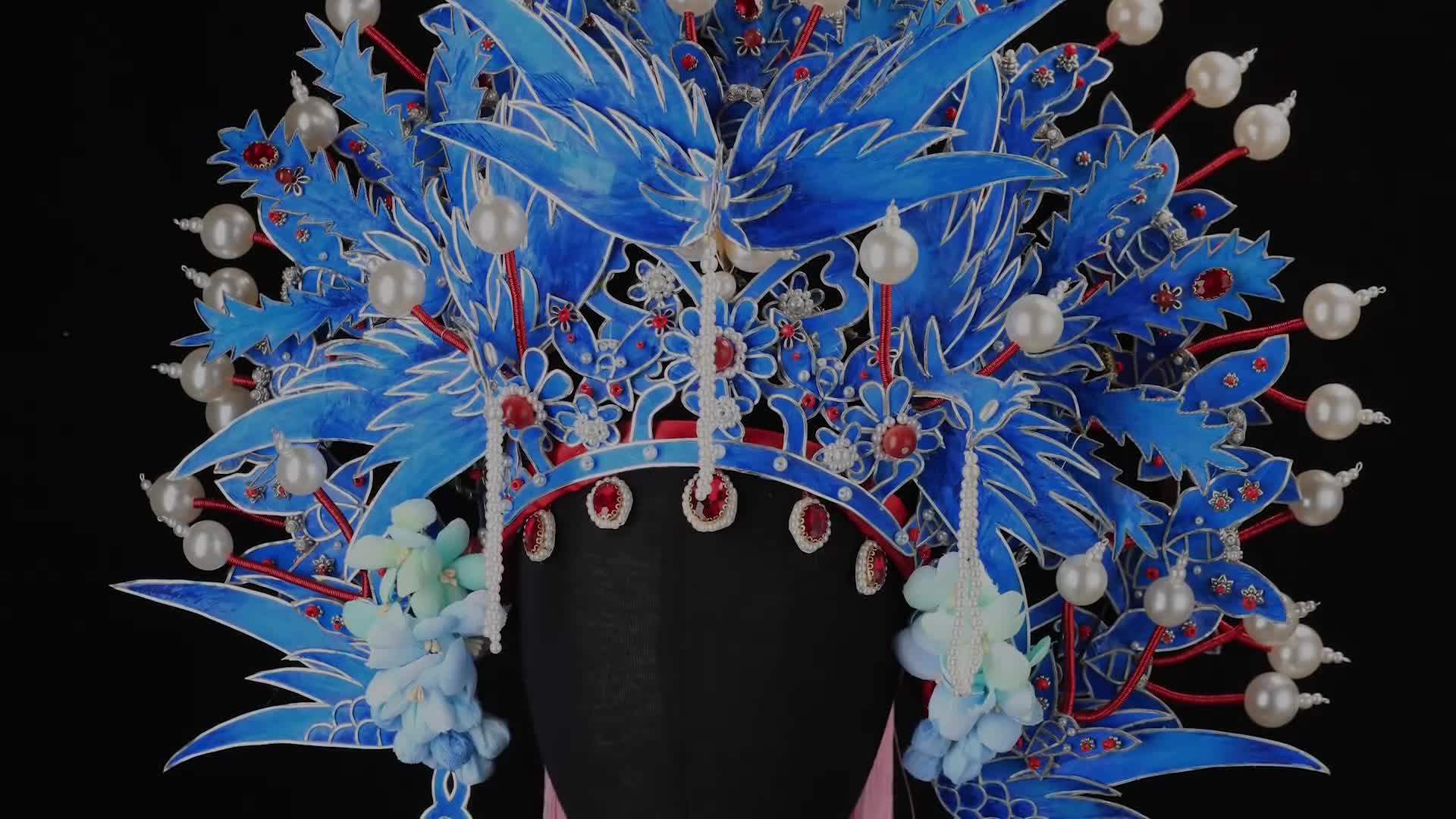 18个易拉罐+传统掐丝工艺,手工制作手游暖暖里的京剧凤冠 | 雁鸿Aimee